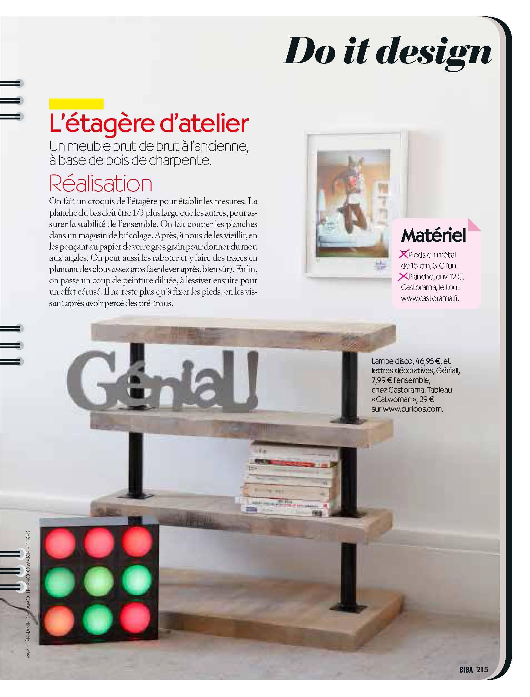 finest diy biba avril ralisation styliste journaliste stphanie de lamotte with table picnic. Black Bedroom Furniture Sets. Home Design Ideas